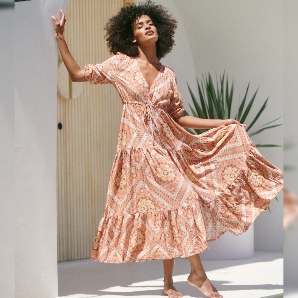 Tessa Maxi Dress Paloma Print by Jaase