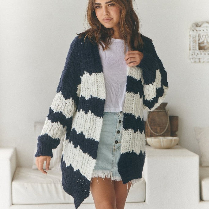 Clove Knit - Navy Stripe by Jaase