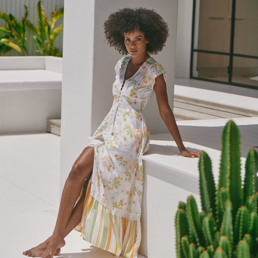 Romi Maxi Dress in Splice print by Jaase