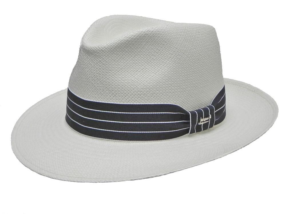 Riva Panama Trilby in White/Black