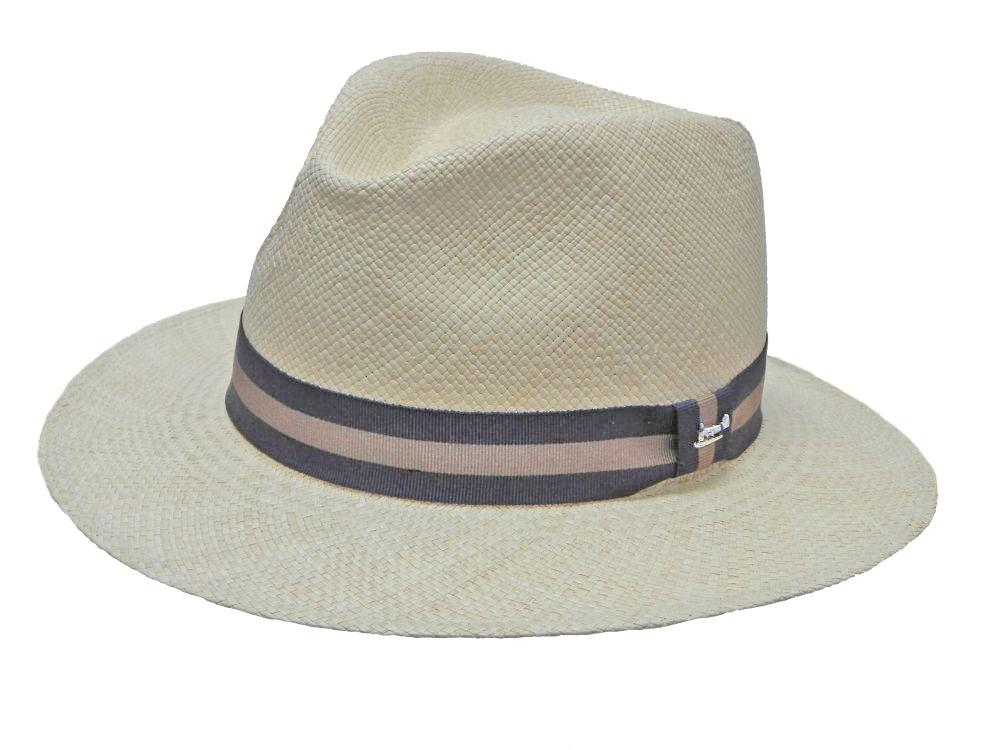 Portofino Panama Trilby in White/Black