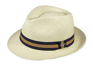 Henley Panama Trilby in Natural/Taupe