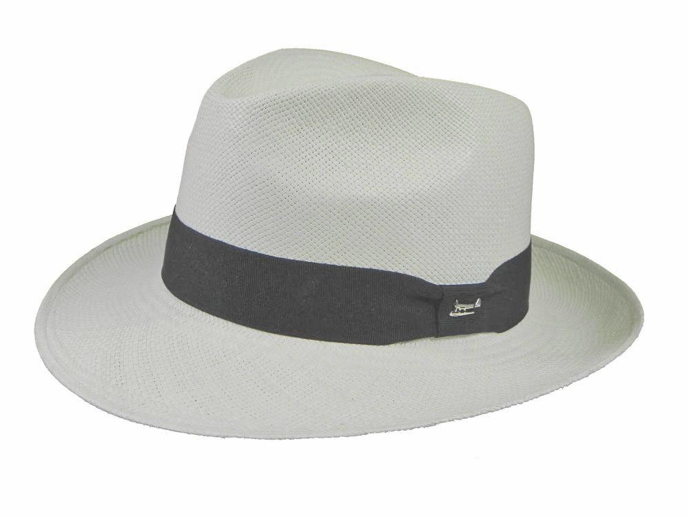 Goodwood Panama Trilby in White/Black