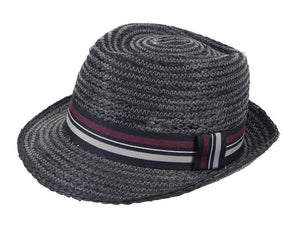 Cobra Raffia Trilby in Black