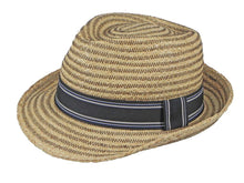 Load image into Gallery viewer, Cobra Raffia Trilby in Natural