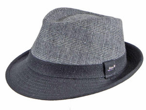 Buick Check Trilby in Charcoal