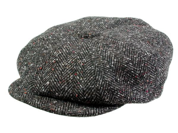 Hampton Newsboy Cap in Black