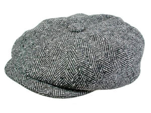 Hampton Newsboy Cap in Pewter