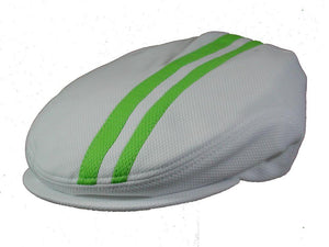 Tempo Golf Cap in White/Zest