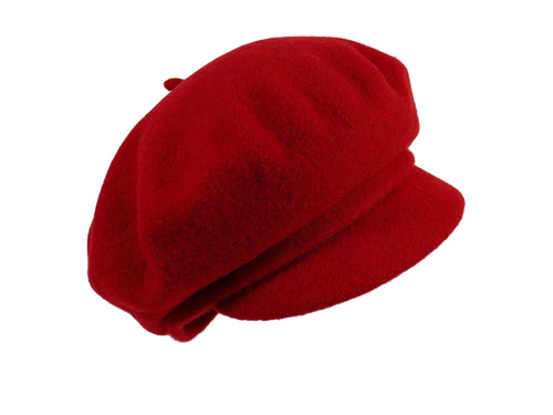 WSC03 Baker Boy Cap in Berry