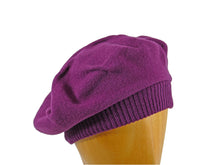 Load image into Gallery viewer, WSC06 Tucked Beret in Plum