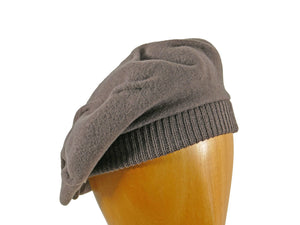 WSC06 Tucked Beret in Taupe