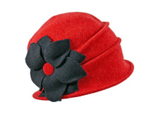 Load image into Gallery viewer, WSC26 Wool Cloche in Flame