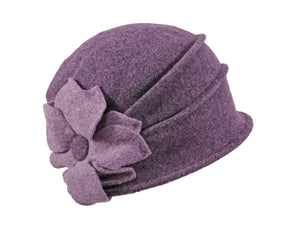 WSC26 Wool Cloche in Wine