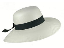 Load image into Gallery viewer, WSC34 Panama Sun Hat in White/Black