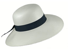 Load image into Gallery viewer, WSC34 Panama Sun Hat in White/Navy