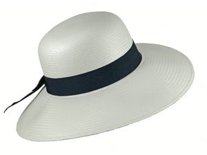 WSC34 Panama Sun Hat in White/Navy