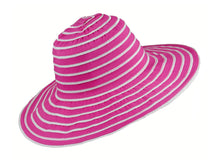 Load image into Gallery viewer, WSC37 Ribbon and Rio Sun Hat in Fuschia
