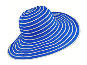 WSC37 Ribbon and Rio Sun Hat in Royal