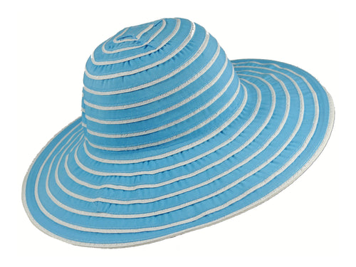 WSC37 Ribbon and Rio Sun Hat in Turquoise