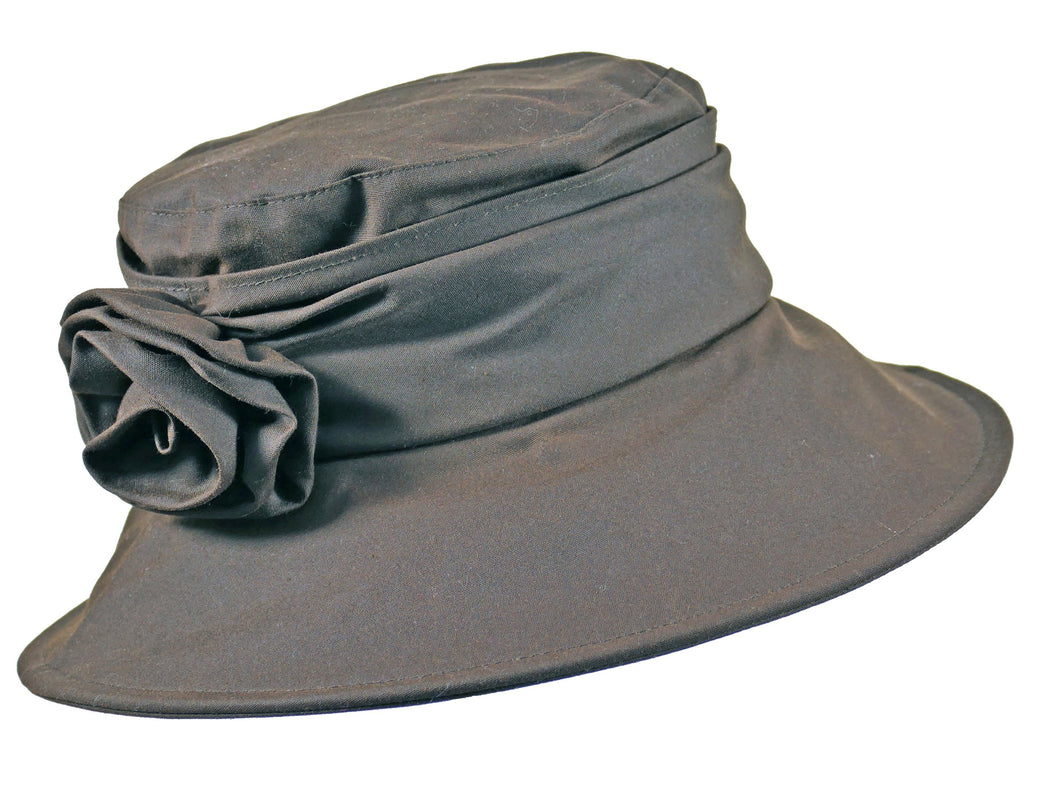 WSC41 Wax Cotton Brim in Chocolate