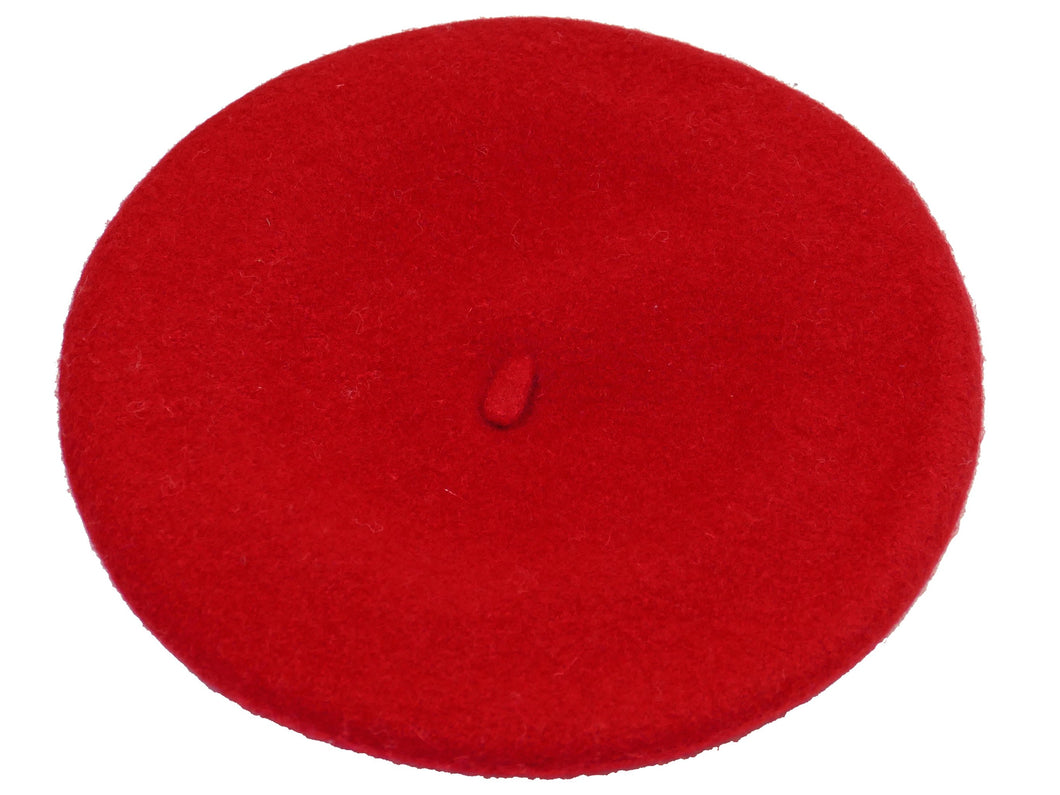 WSC500 Wool Beret in Red