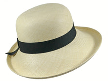 Load image into Gallery viewer, WSC51 Panama Sun Hat in Natural/Black