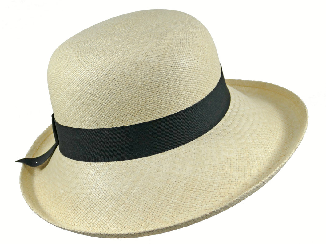 WSC51 Panama Sun Hat in Natural/Black