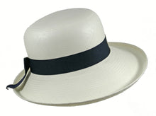 Load image into Gallery viewer, WSC51 Panama Sun Hat in White/Navy