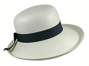 WSC51 Panama Sun Hat in White/Navy