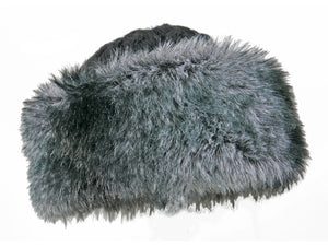 WSK04 Cable Knit/Faux Fur Cossack in Storm