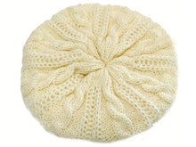 Load image into Gallery viewer, WSK05 Cable Knit Beret in Polar
