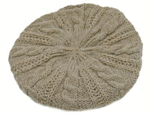 Load image into Gallery viewer, WSK05 Cable Knit Beret in Taupe