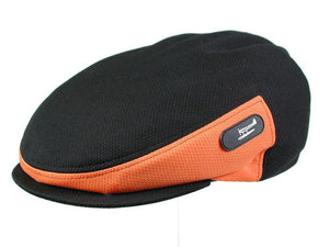 Zephyr Golf Cap in Black/Orange