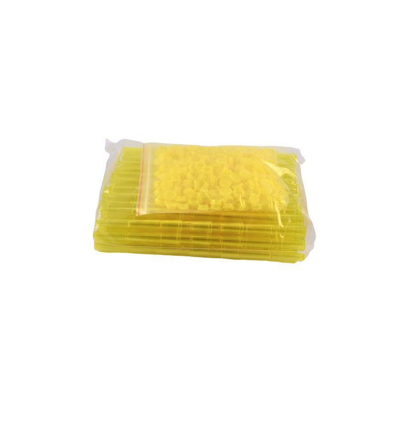Plastic Tubes Hard Transparant Yellow 112mm