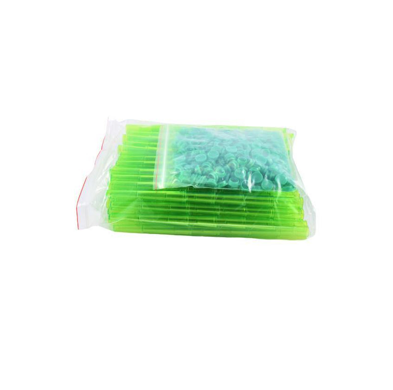 Plastic Tubes Hard Transparant Green 112mm