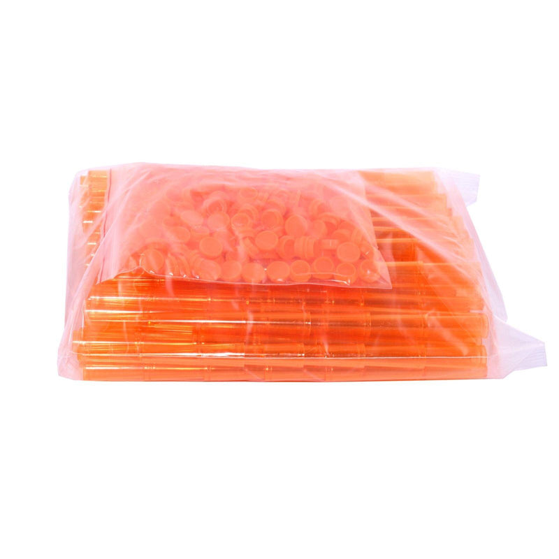 Plastic Tubes Hard Transparant Orange 112mm