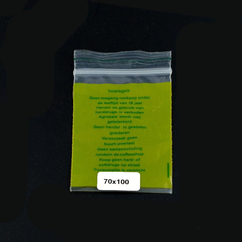 Ziplock Bag 70x100mm House Rules
