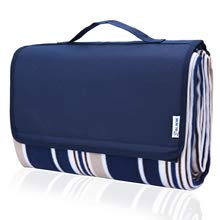 "Picnic Blanket, 80""x60"" Waterproof Camping Portable mat - with Picnic Recipes XL Large Blue (70 * 80"" Blue) - Shoppersbase"