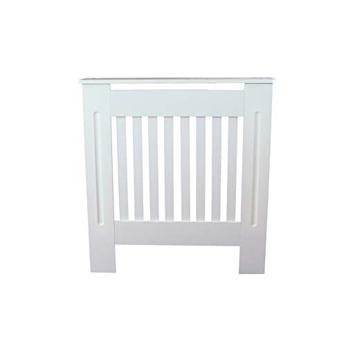 SavingPlus MODERN RADIATOR COVERS WHITE HOME CABINET SHELVES SLATTED GRILL WOOD FURNITURE 4 SIZES (Small) - Shoppersbase