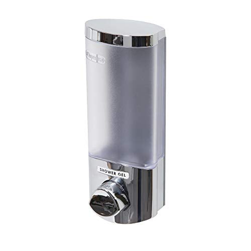COMPACTOR Wall Soap Dispenser, 310ml, Chrome Steel with Plastic Finish, RAN6014 - Shoppersbase