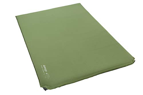 Vango Odyssey 7.5 Double Self Inflating Sleep Mat, Epsom Green, 7.5cm - Shoppersbase