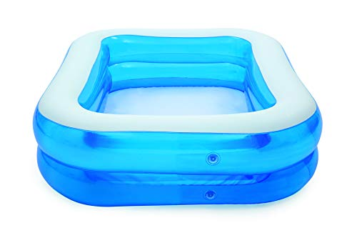 Bestway Family Pool, pool rectangular for children, easy to assemble, blue, 201 x 150 x 51 cm - Shoppersbase