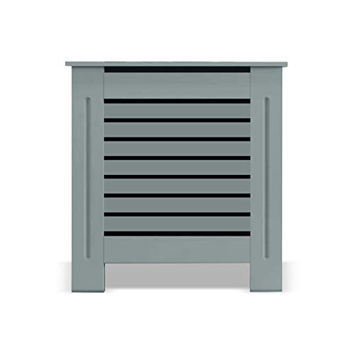 Grey Radiator Cover | Radiator Cover Small Medium Large | Tall Radiator Covers | Modern Home Cabinet Living Room Furniture MDF Wooden Heating Storage Extra Slimline Grill Painted 90cm Hallway Covers - Shoppersbase