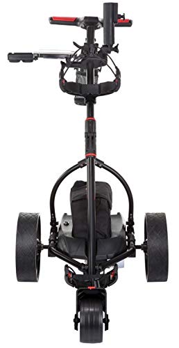 Caddymatic V2 Electric Golf Trolley/Cart With 18 Hole battery With Auto-Distance Functionality Black - Shoppersbase
