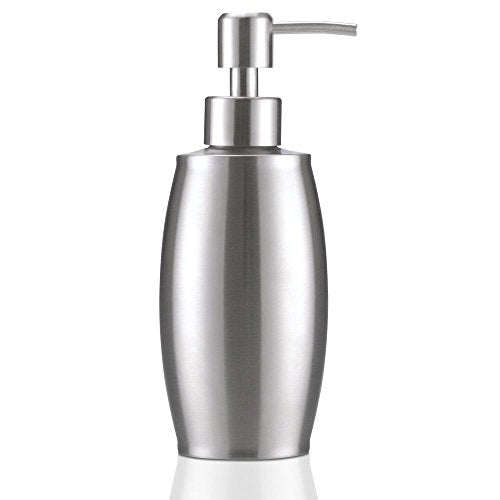 flintronic Hand Soap Dispenser, 350ML Bath and Kitchen Lotion Dispenser Stainless Steel (Shower Gel, Cream, Shampoo, Foam, Oil) Pump Bottle for Bathroom, Toilet, Rest Room - Shoppersbase