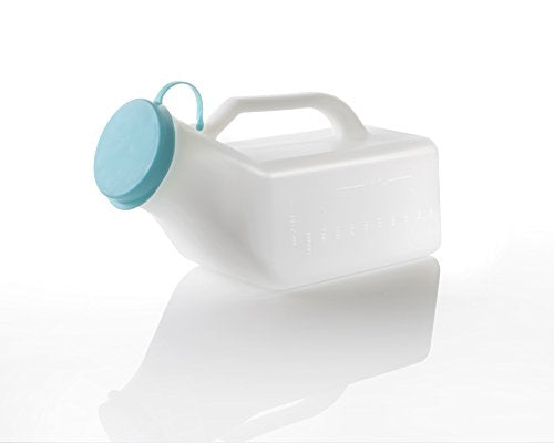 UML1000 Male Urinal Bottle, Secure Cap, Measuring Scale, Easy Grip Handle 1000ml - Shoppersbase
