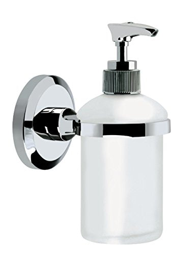 Bristan SO SOAP C Solo Wall Mounted Frosted Glass Soap Dispenser - Chrome Plated - Shoppersbase