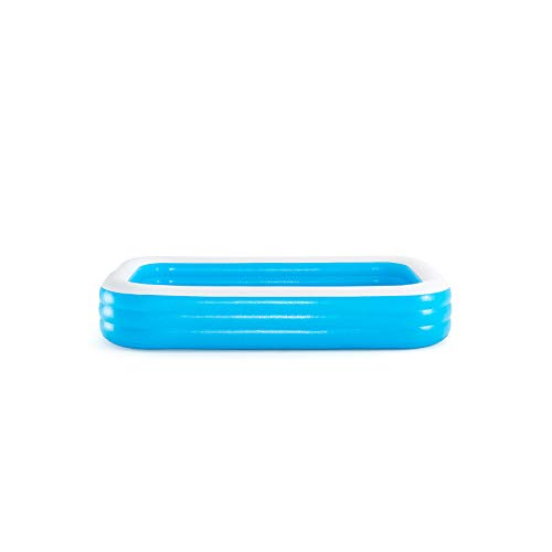 Bestway BW54009-20 Inflatable Family Pool, Blue Rectangular with Water Capacity 1,161L - Shoppersbase