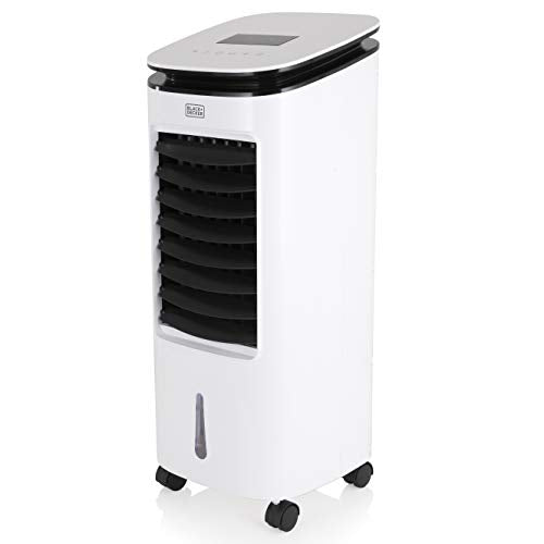 BLACK+DECKER BXAC65002GB Digital Air Cooler, Humidifier and Cooling Fan, 3 Speed Settings with 7 Litre Water Tank, LED Display with Soft Touch Controls and 7.5 Hour Timer, Remote Control 65 W, White - Shoppersbase